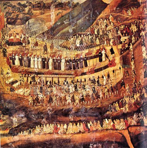 Япония век История Мирного государства эпохи Эдо Пытки христиан в Японии картина