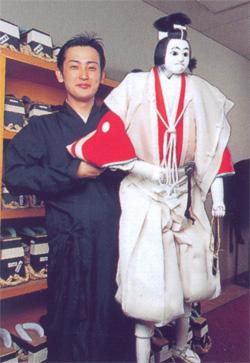 бунраку небольшой сцена марионеток япония
