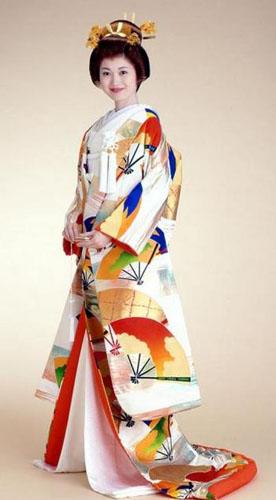 Кимоно гейши просвещенность Японии