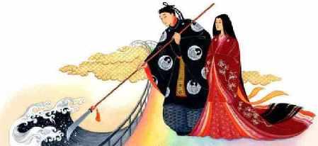 Идзанаги и Идзанами боги японии